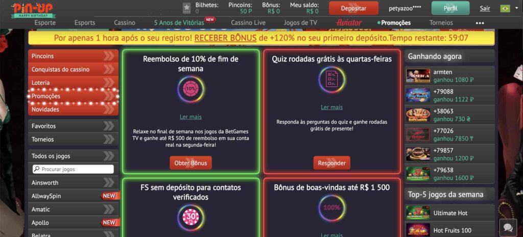 Bônus de cassino do Brasil