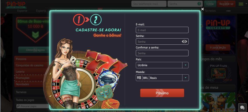 registro em um casino online brasil